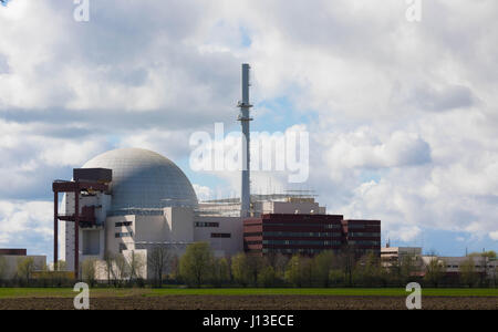 Brokdorf, GERMANY - April 16, 2017:Brokdorf nuclear power plant - Stock Image