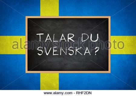 Do you speak Swedish - Stock Image