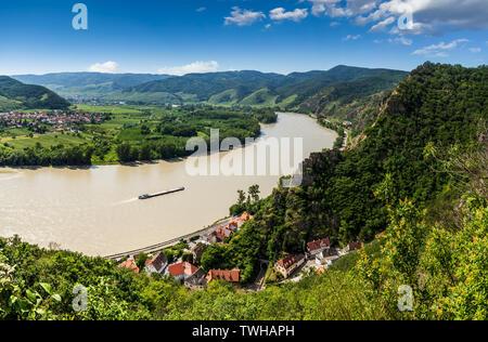 Landscape of Wachau valley, Danube river, Austria. - Stock Image