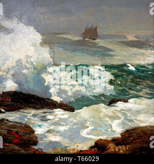 Winslow Homer, On a lee shore, painting, 1900 - Stock Image