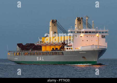 SAL's Heavy-lift ship Svenja - Stock Image