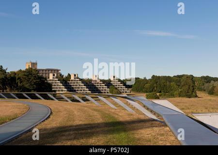 University of East Anglia campus, the Ziggurats, halls of residence, Norwich, Norfolk, UK. - Stock Image