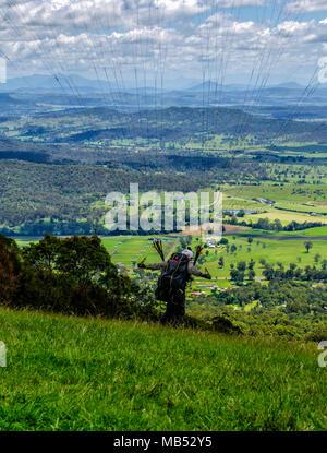 Paragliding of Mount Tamborine, Queensland, Australia - Stock Image