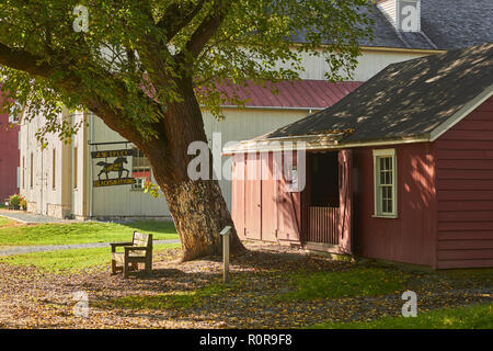 outdoors at the Landis Valley Farm and Museum, Landis, Lancaster County, Pennsylvania, USA - Stock Image