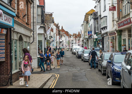 Busy,High Street,Rye,East Sussex,England,UK - Stock Image
