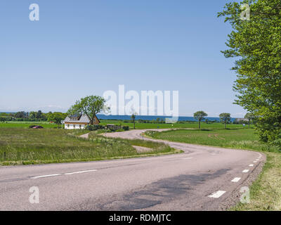 Road in village - Stock Image