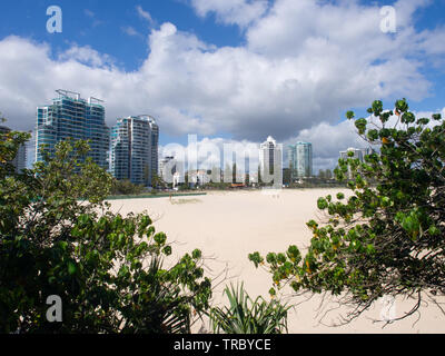 Coolangatta Cityscape On The Gold Coast - Stock Image