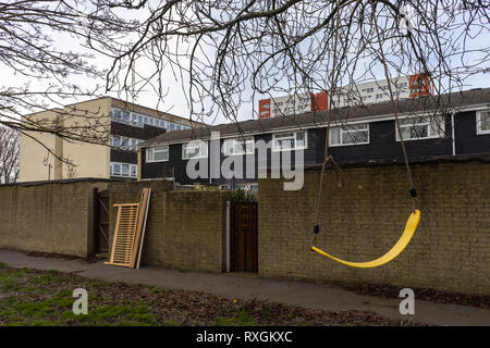 Council housing along Vicent Road in the Shirley district of Southampton, England, UK - Stock Image