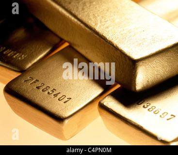 GOLD BARS_1 - Stock Image