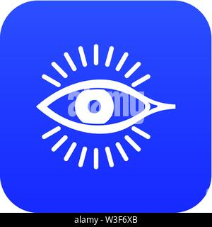 Eye icon, simple style - Stock Image