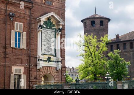 Piazza Castello, Turin, Piedmont, Italy - Stock Image