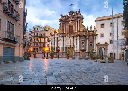 Church Sant'Anna in Palermo, Sicily, Italy - Stock Image