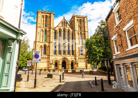 The Cathedral Church of St Peter and St Wilfrid Ripon, known as Ripon Cathedral, is a cathedral in the North Yorkshire city of Ripon, ripon Cathedral, - Stock Image