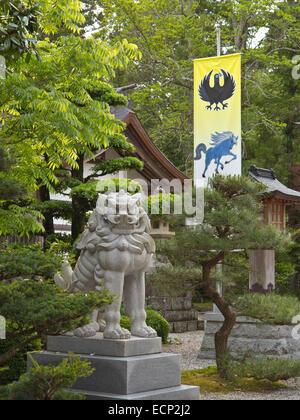 Kumano Hongu Taisha, Grand Hongu Shrine of the Shugendo faith, along Kumano Kodo Pilgrimage Trail, Wakayama Prefecture, - Stock Image