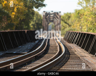Railroad bridge in Richmond Virginia - Stock Image