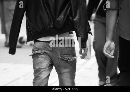 Saggy pants - Stock Image