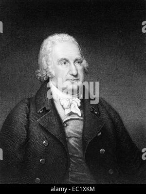 John Eager Howard (1752-1827) on engraving from 1835. American soldier and politician from Maryland. - Stock Image