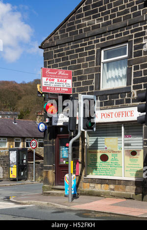 Post office retail premises with integrated residential house accommodation for sale in Walsden near Todmorden. - Stock Image