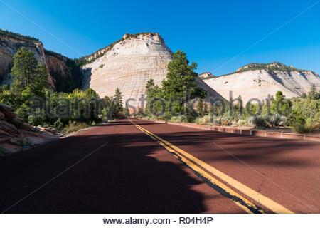 Vulcanoes in Zion National Park at Checkboard Mesa - Stock Image