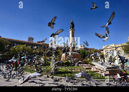 Plaza Murillo and National Congress. La Paz. Bolivia - Stock Image