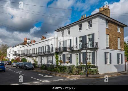 2 - 20 St Dunstan's Terrace,Circa 1830,Terrace of small stuccoed houses,Canterbury,Kent,England - Stock Image