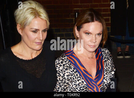Celebrities at Marks Club in Mayfair during London Fashion Week  Featuring: Louise Adams Where: London, United Kingdom When: 17 Feb 2019 Credit: WENN.com - Stock Image