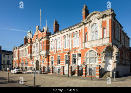 Swansea Harbour Trust Building, 1903 by Edwin Seward, now Morgan's Hotel, in the City's Historic Harbour, now the Maritime Quarter. - Stock Image