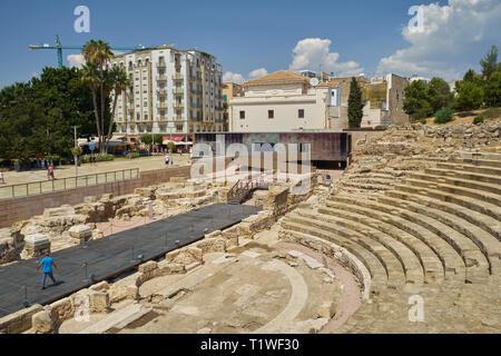 Roman Theatre. Málaga, Andalusia, Spain. - Stock Image