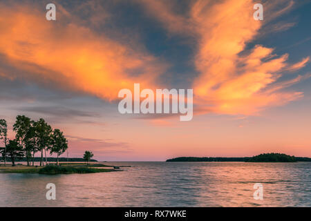 Lake Vanern is the largest lake in Sweden, the largest lake in the European Union and the third-largest lake in Europe. - Stock Image