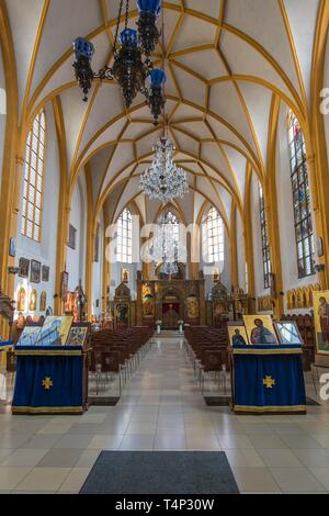 Interior, Orthodox Church St. Salvator, Salvator Church, Munich, Upper Bavaria, Bavaria, Germany - Stock Image