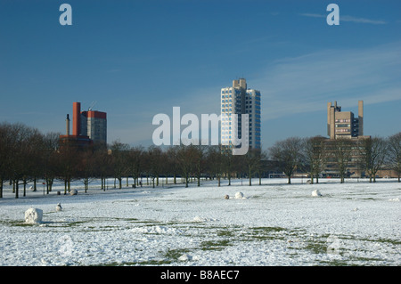 University of Leicester and Victoria Park, Leicester, England, UK - Stock Image