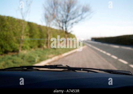 stone chip  on  car  windscreen - Stock Image