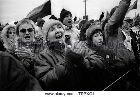 Czechoslovakia, Prague,1989 during the Velvet Revolution, the fall of communism in Eastern Europe. COPYRIGHT PHOTOGRAPH BY BRIAN HARRIS  © 07808-579804 - Stock Image