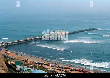Pier at Lima, Peru, South America - Stock Image