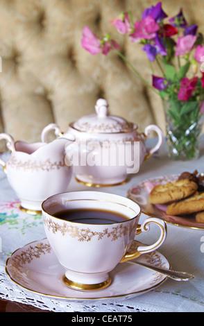 Vintage coffee set - Stock Image