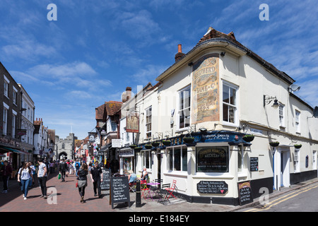 Cricketers Pub High Street Canterbury Kent - Stock Image
