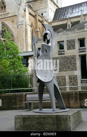 Statue Outside Southwark Cathedral, London, UK - Stock Image