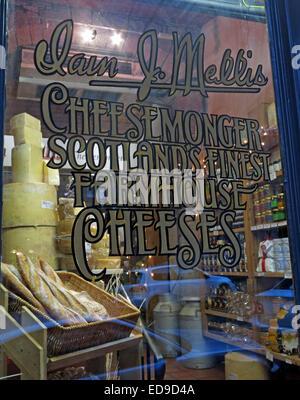 Mellis Cheesemonger Victoria St, Edinburgh, Scotland, UK - Stock Image