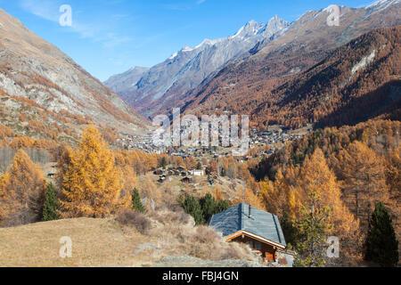 The Village of Zermatt, Valais, Switzerland - Stock Image
