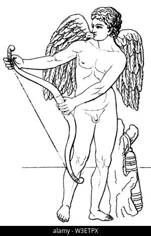 Cupid, ,  (cultural history book, 1875) - Stock Image