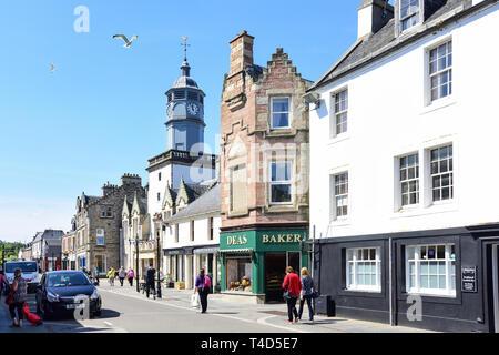 High Street, Dingwall, Highland, Scotland, United Kingdom - Stock Image