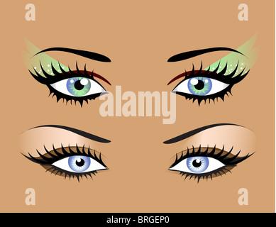 Eyes illustration - Stock Image