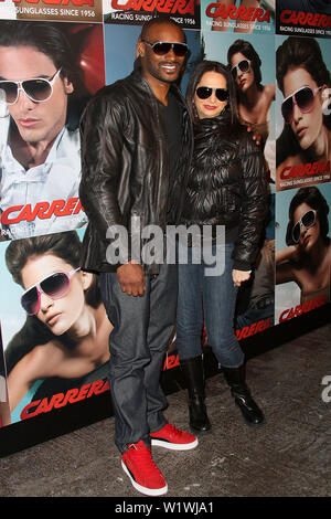 New York, USA. 13 March, 2009. Model, Tyson Beckford, Eden Wexler at the launch of Carrera Vintage Sunglasses at Angel Orensanz Foundation. Credit: Steve Mack/Alamy - Stock Image