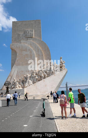Monument to the Discoveries of the New World Lisboa Lisbon Portugal Europe EU  KATHY DEWITT - Stock Image