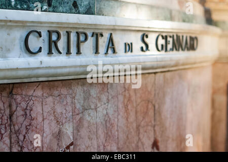 Crypt of St Gennaro, Naples, Italy - Stock Image