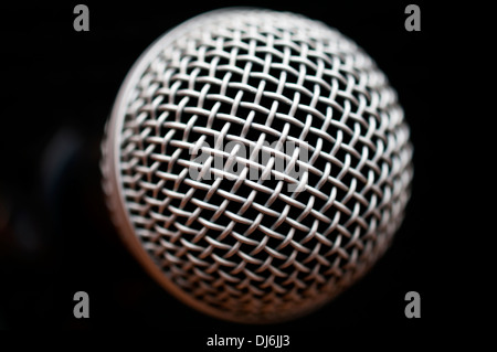 close up of a audio microphone macro - Stock Image