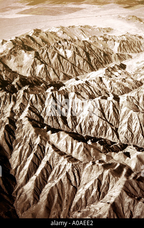 Pampa de San Hose, Peru. An Aerial View. - Stock Image