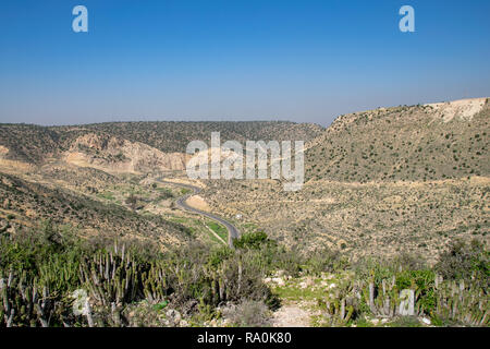 Roads through the south west corner of the Atlas Mountains from Agadir, Morocco - Stock Image