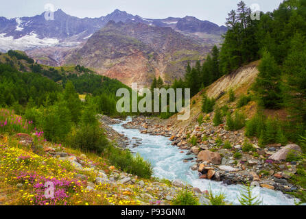 Saas-Fee - Stock Image