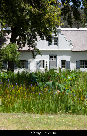House at Grande Provence in Franschhoek in Western Cape, South Africa - Stock Image
